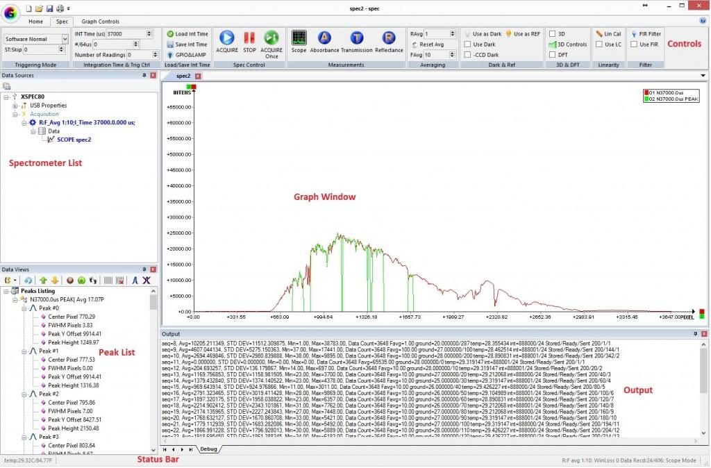 GratingWorks xspec GUI software